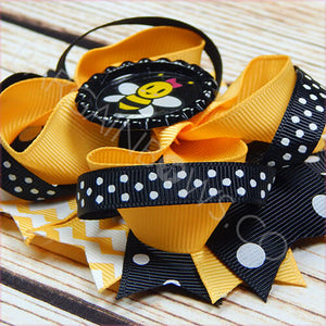 Happy Bumble Bee Boutique Bow - BargainBows