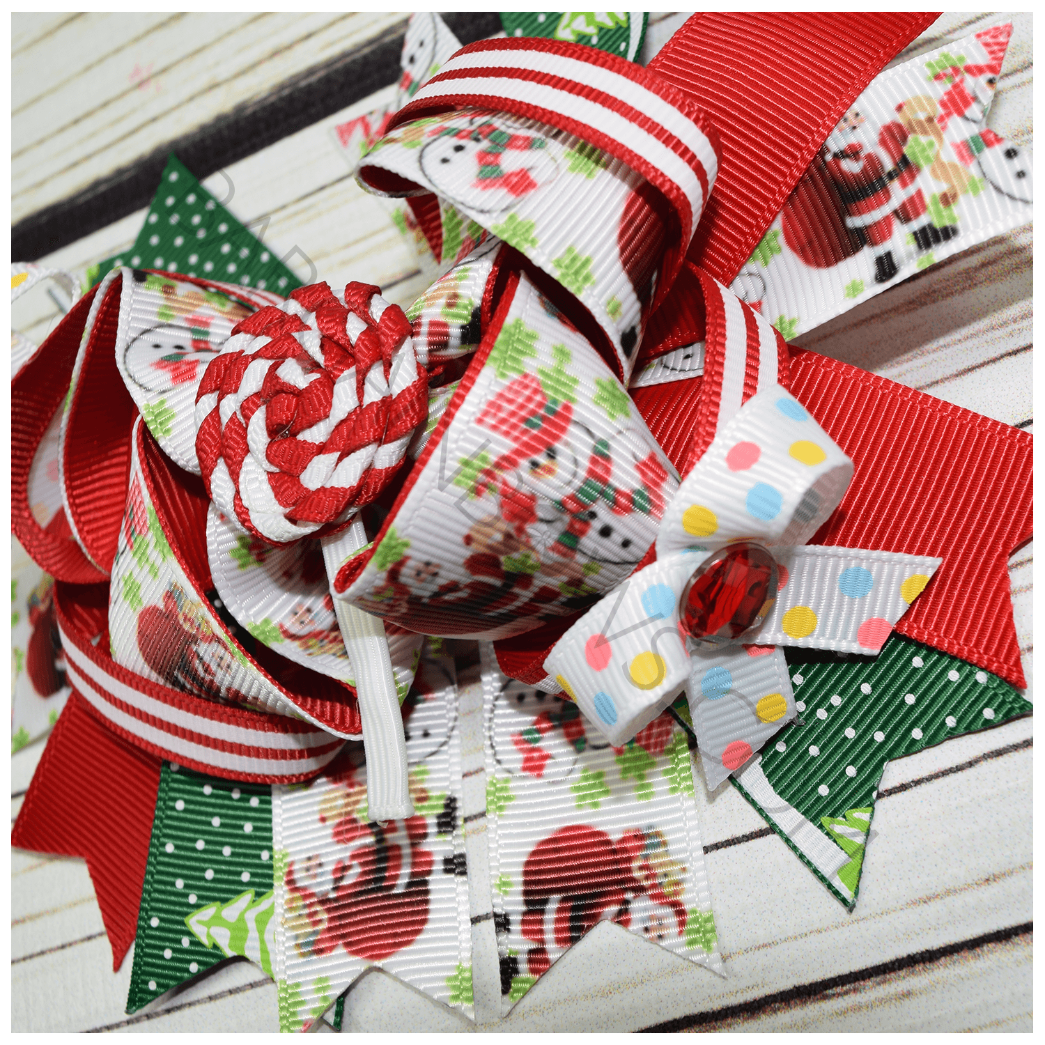 Candy cane holiday boutique bow bargain bows for Holiday boutique