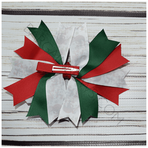 Candy Cane Holiday Boutique Bow, hair bows BargainBows