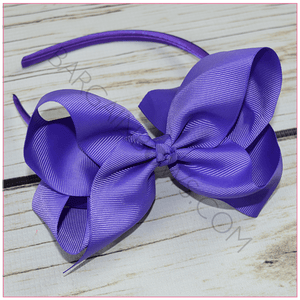 Hard Headband 6 inch Solid Hair Bow Bundle Simply Sweet - BargainBows
