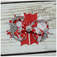 Silver Christmas Holiday Boutique Bow, hair bows BargainBows
