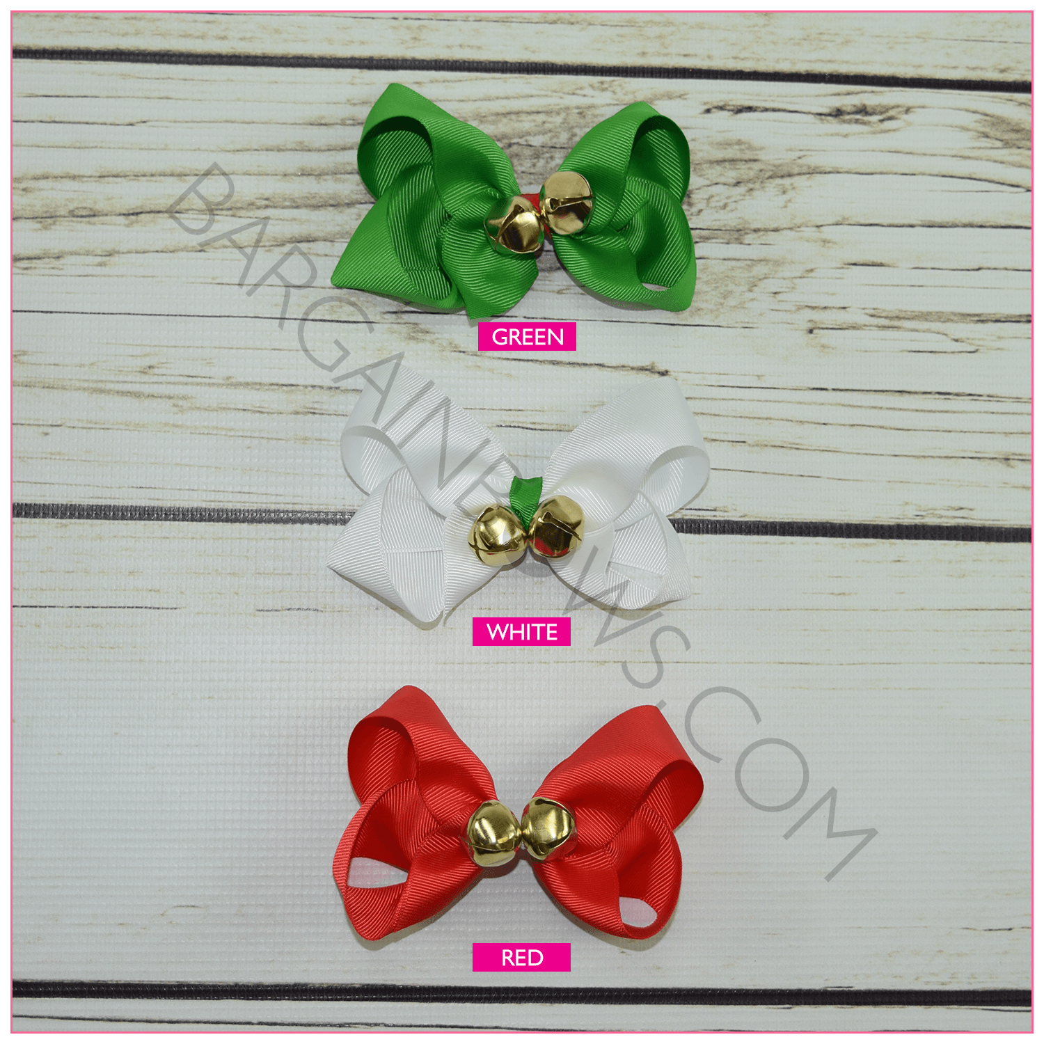 Jingle Bell Bows Alligator Clip Hair BargainBows