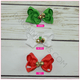 Jingle Bell Bows -Alligator Clip, hair bows BargainBows