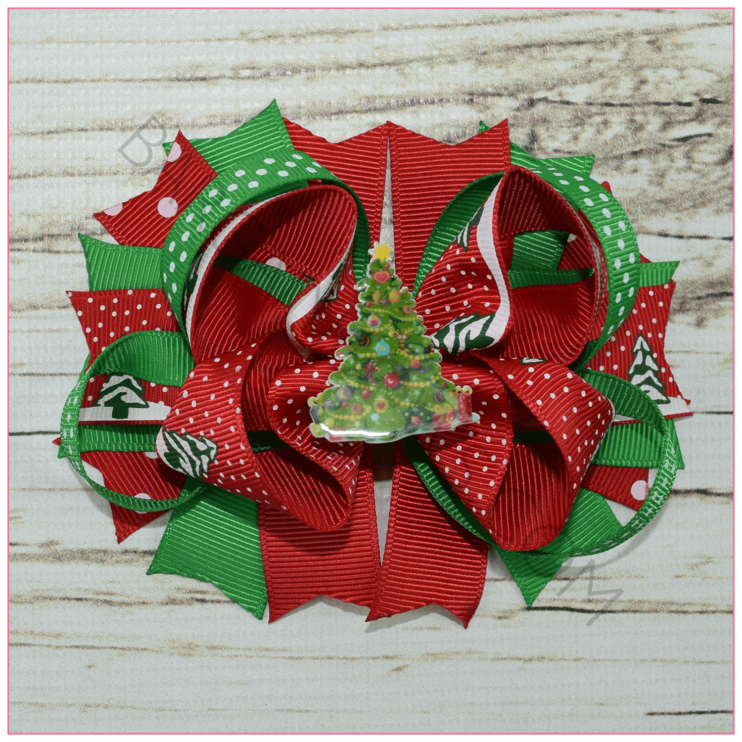 oh christmas tree holiday boutique bow hair bows bargainbows - Christmas Tree Bows