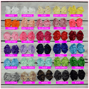 Organza 4 inch Hair Bow - Alligator Clip, hair bows BargainBows