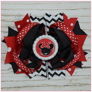 Red Minnie Boutique Bow, hair bows BargainBows