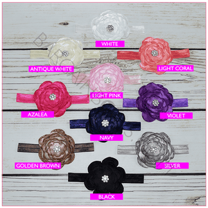 Sophie Satin Flower Headband collection - BargainBows