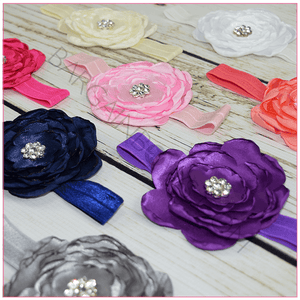 Sophie Satin Flower Headband - BargainBows