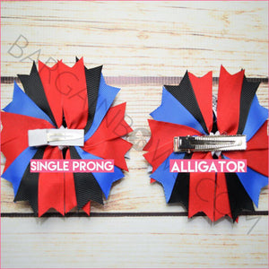 Spider-man Boutique Bow (Single Prong, Alligator Clip)