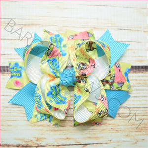 3.5 inch Spongebob character Bow from Bargain Bows