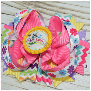 I Love Summer Boutique Bow, hair bows BargainBows