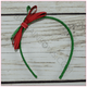 Triple Christmas Ribbon Hard Headbands, headbands BargainBows