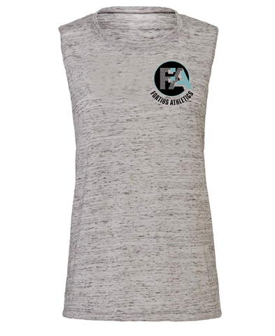 Fortius White Marble Muscle Tank