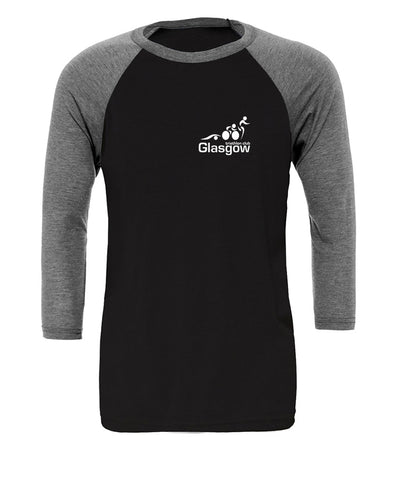 Glasgow Triathlon Club Baseball Top - Grey/Black