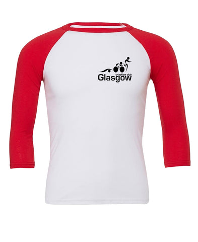 Glasgow Triathlon Club Baseball Top - White/Red