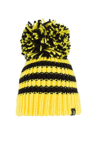 Bees Knees - Black & Yellow Bobble Hat