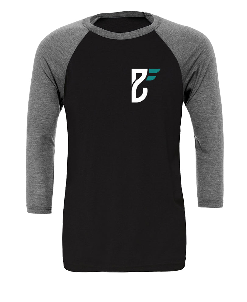Base Fitness Black/Heather Baseball Top