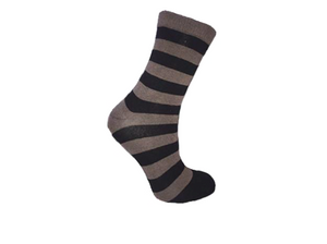 Shady Zebra Socks - Black & Grey Socks