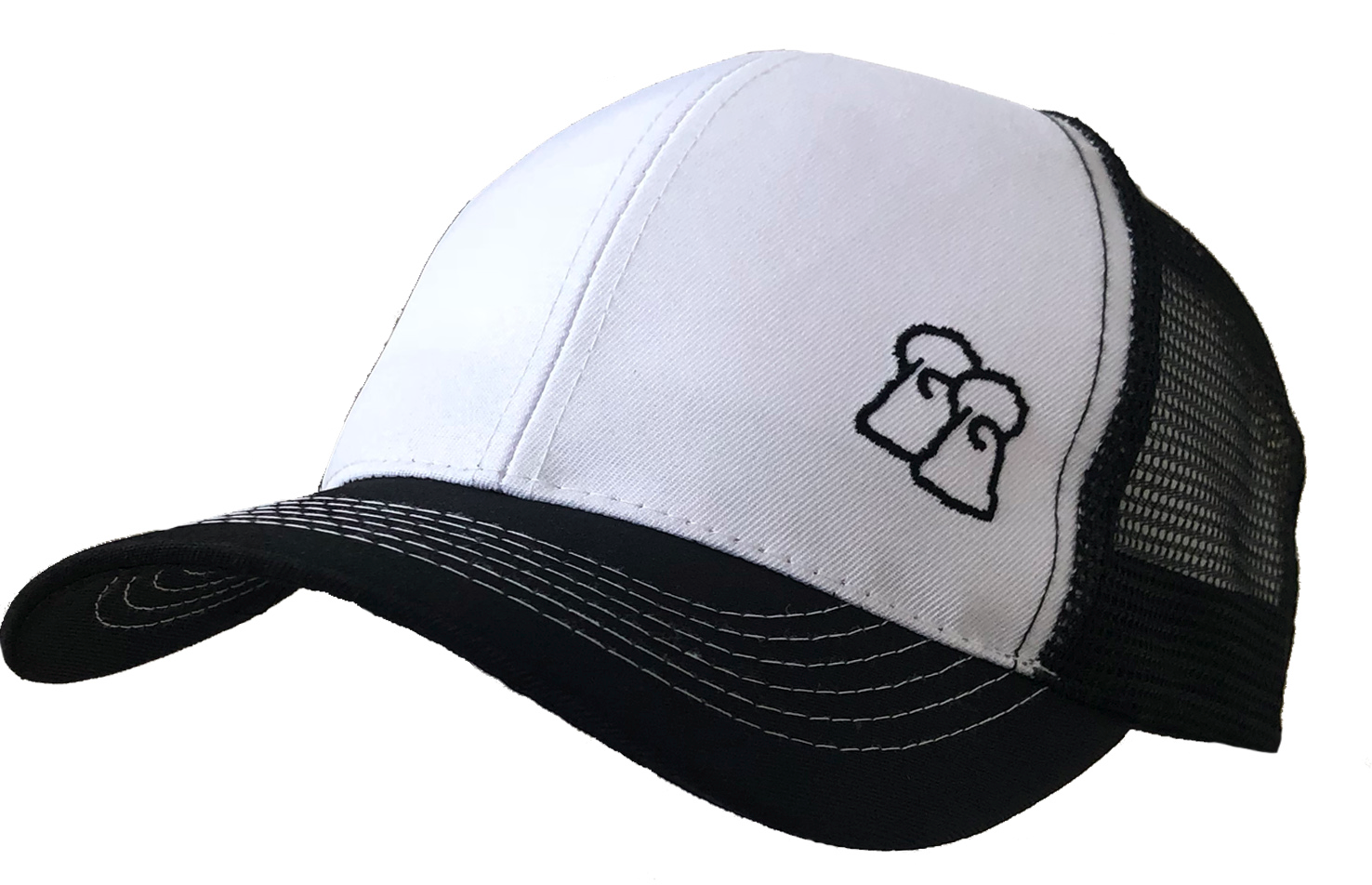 Penguin Peak - Black & White Trucker Cap
