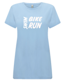 Women's Swim Bike Run T-Shirt