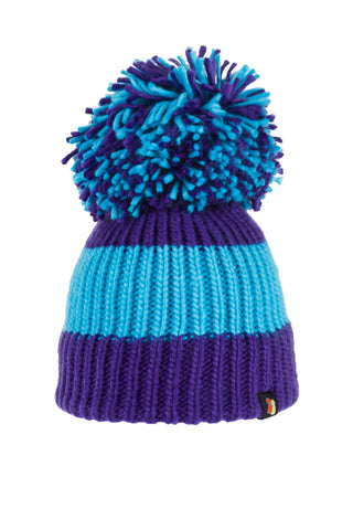 Chilly Willy - Blue & Purple Bobble Hat