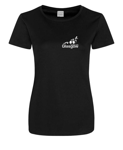 Glasgow Triathlon Club Ladies Technical Black T-Shirt