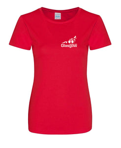 Glasgow Triathlon Club Ladies Technical Red T-Shirt