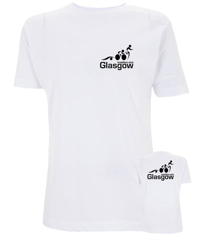 Glasgow Triathlon Club Technical White T-Shirt
