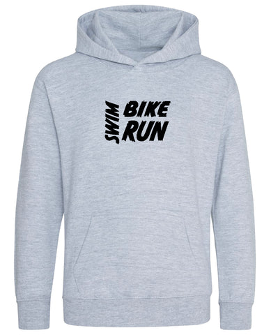 Kids Swim Bike Run Hoodie