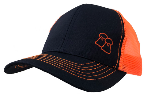 Midnight Tango - Navy & Orange Trucker Cap