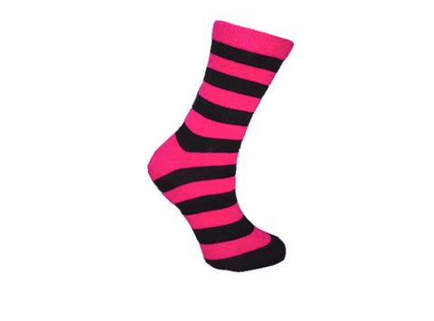 Pink Panda Socks - Black & Pink Socks