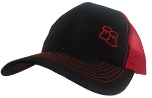 Blackjack - Black & Red Trucker Cap