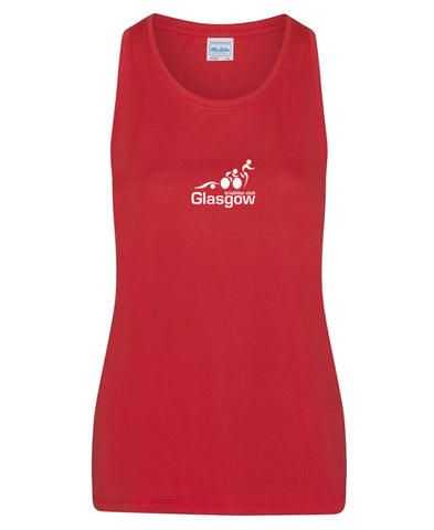 Glasgow Triathlon Club Ladies Technical Red Running Vest