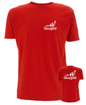 Glasgow Triathlon Club Technical Red T-Shirt - White Logo