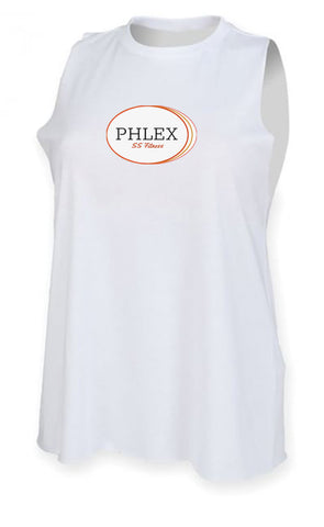 SS Fitness Ladies High Neck White Vest