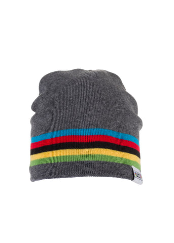 UCI Grey Rainbow Stripes Beanie