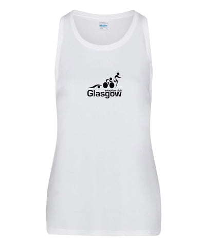 Glasgow Triathlon Club Ladies Technical White Running Vest