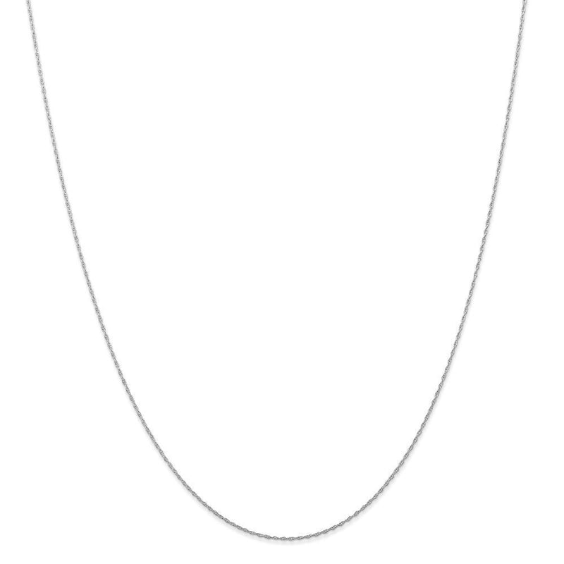 Necklaces 14K White Gold 0.50mm Carded Cable Rope Chain
