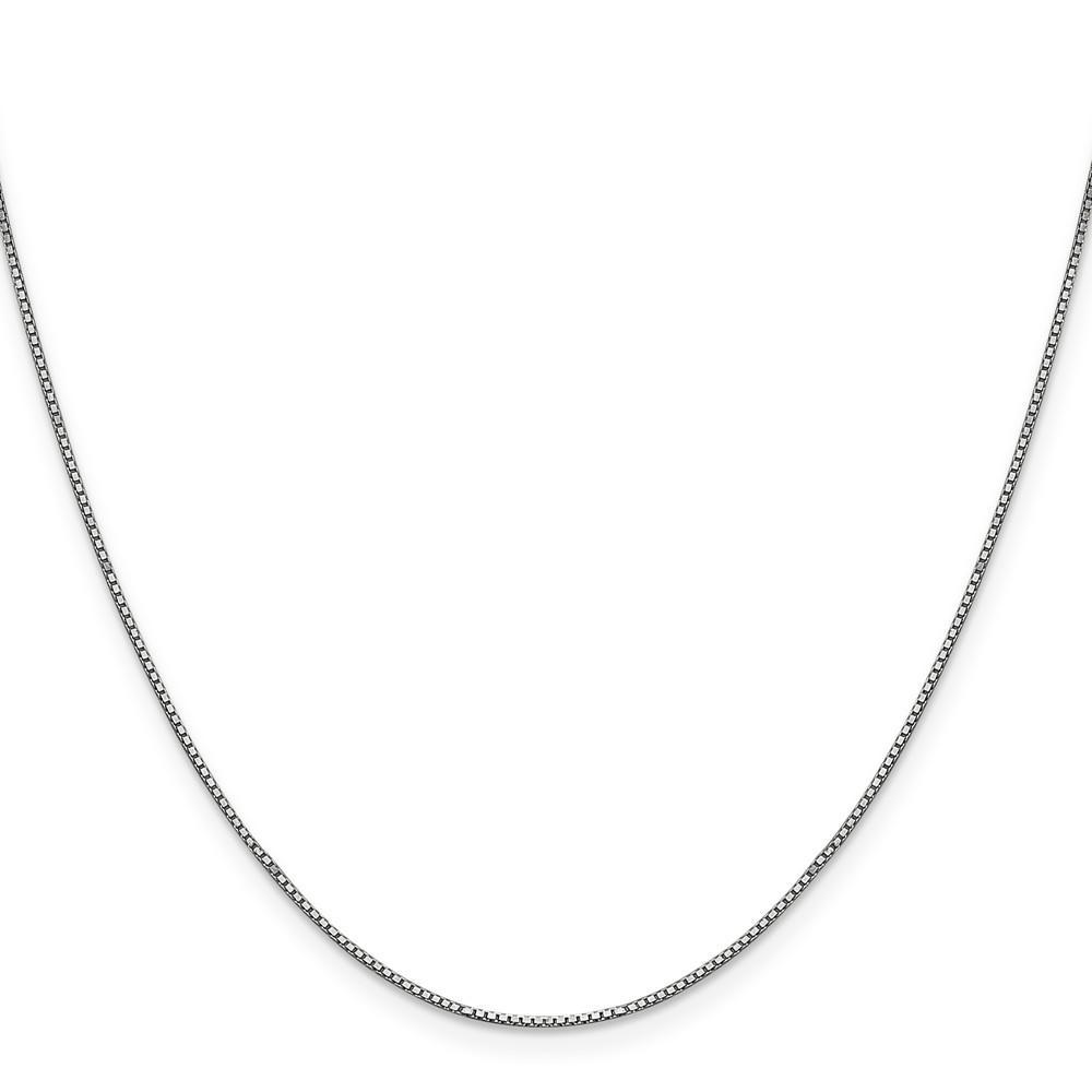 Bracelets 14k White Gold 0.90mm Polished Solid Box Chain