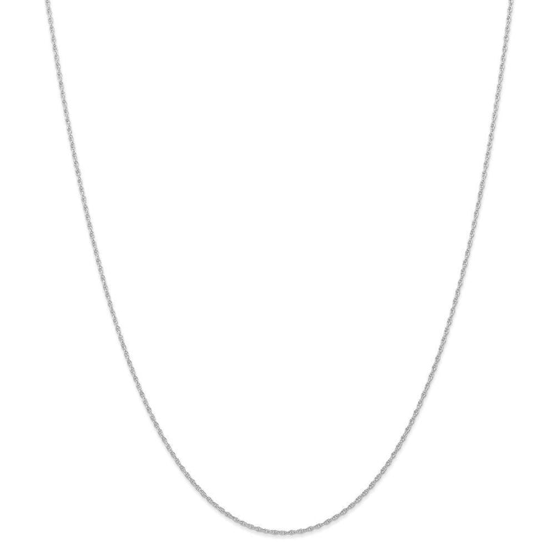 Chains 14K White Gold 0.95mm Carded Cable Rope Chain