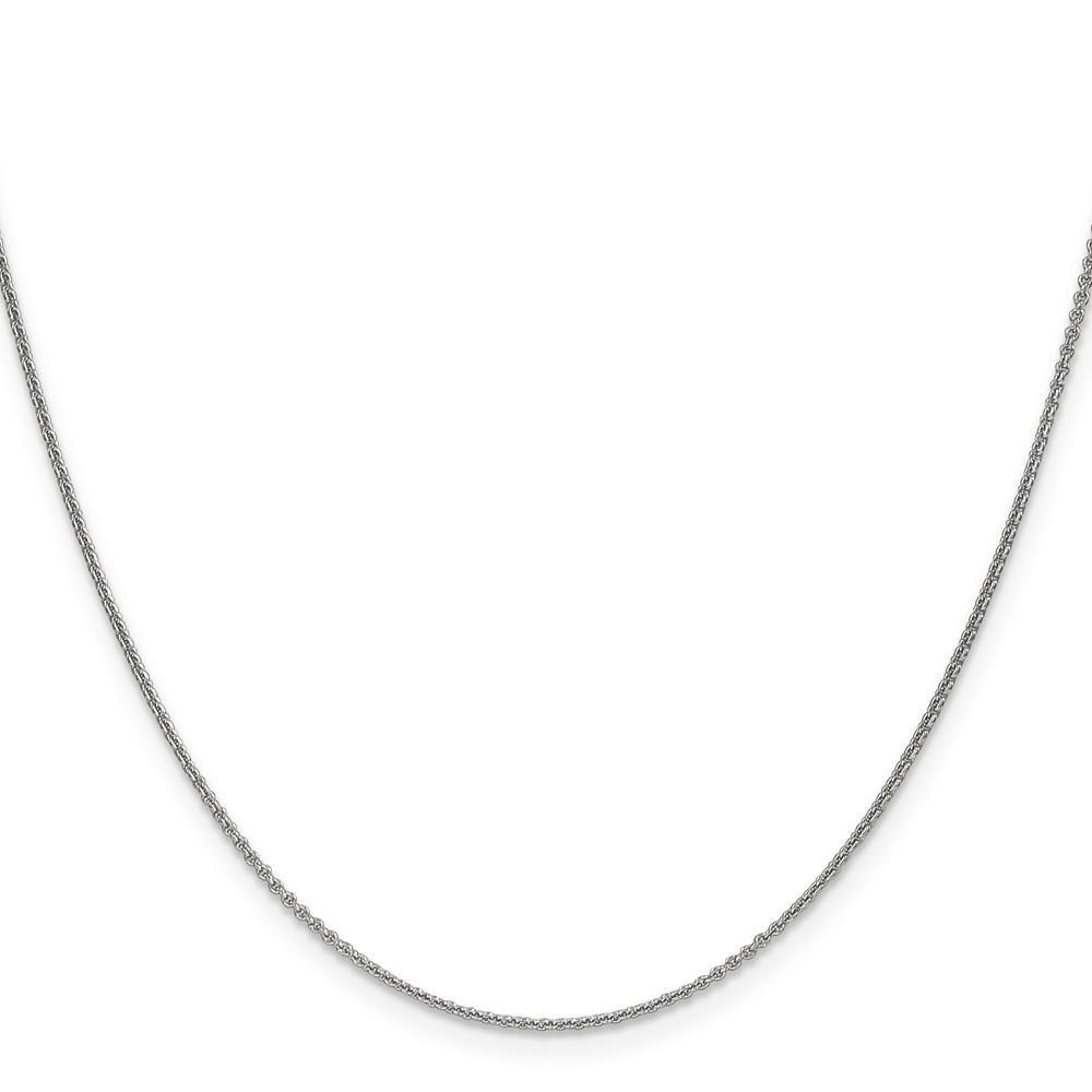 Anklets 14k White Gold 1.00mm Solid Polish Cable Chain