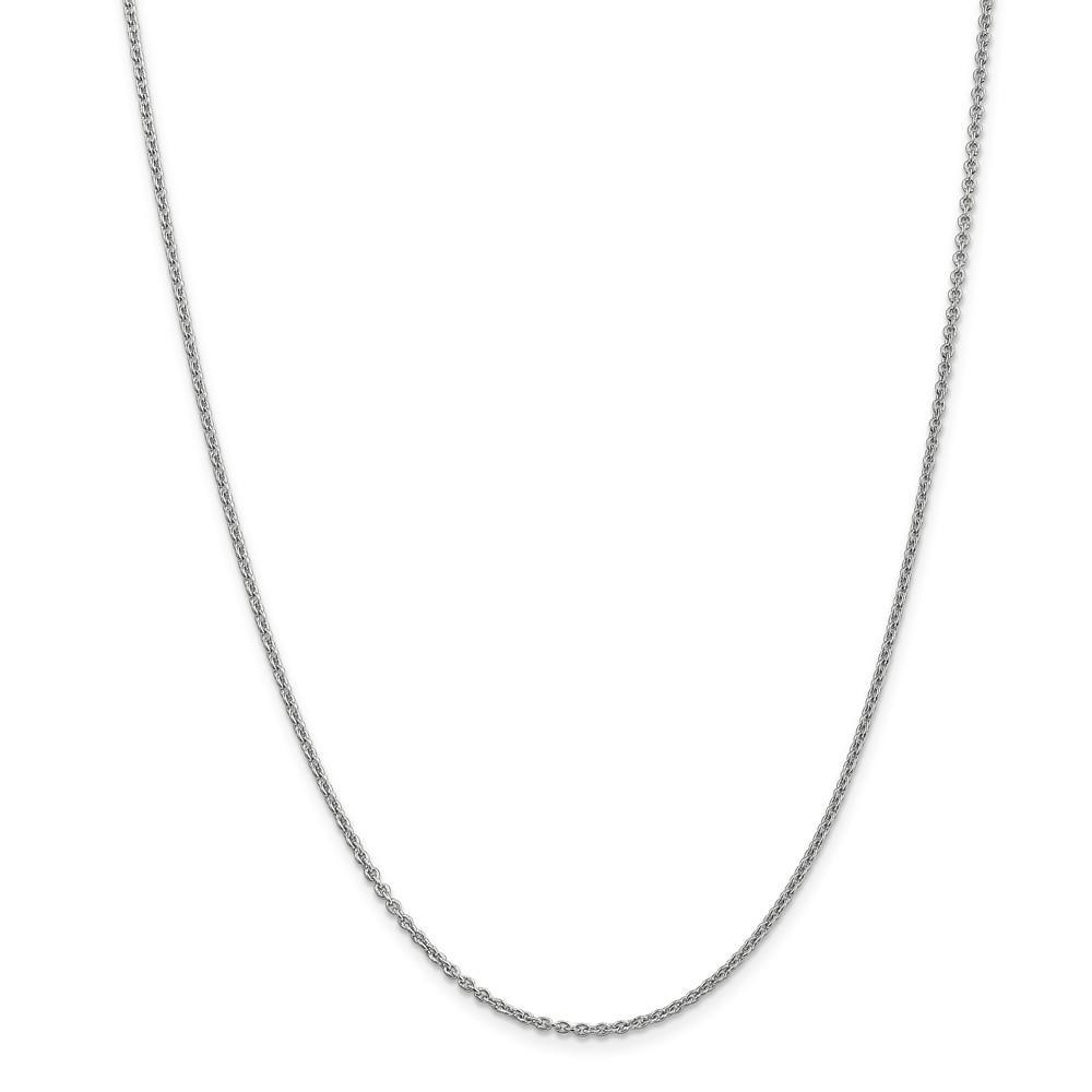 Chains 14k White Gold 1.90mm Solid Polish Cable Chain
