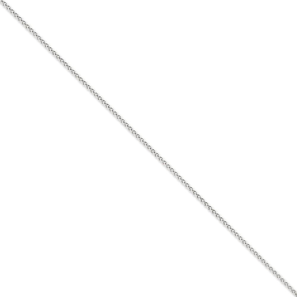 Bracelets 14k White Gold 2.25m Solid Polished Spiga Chain