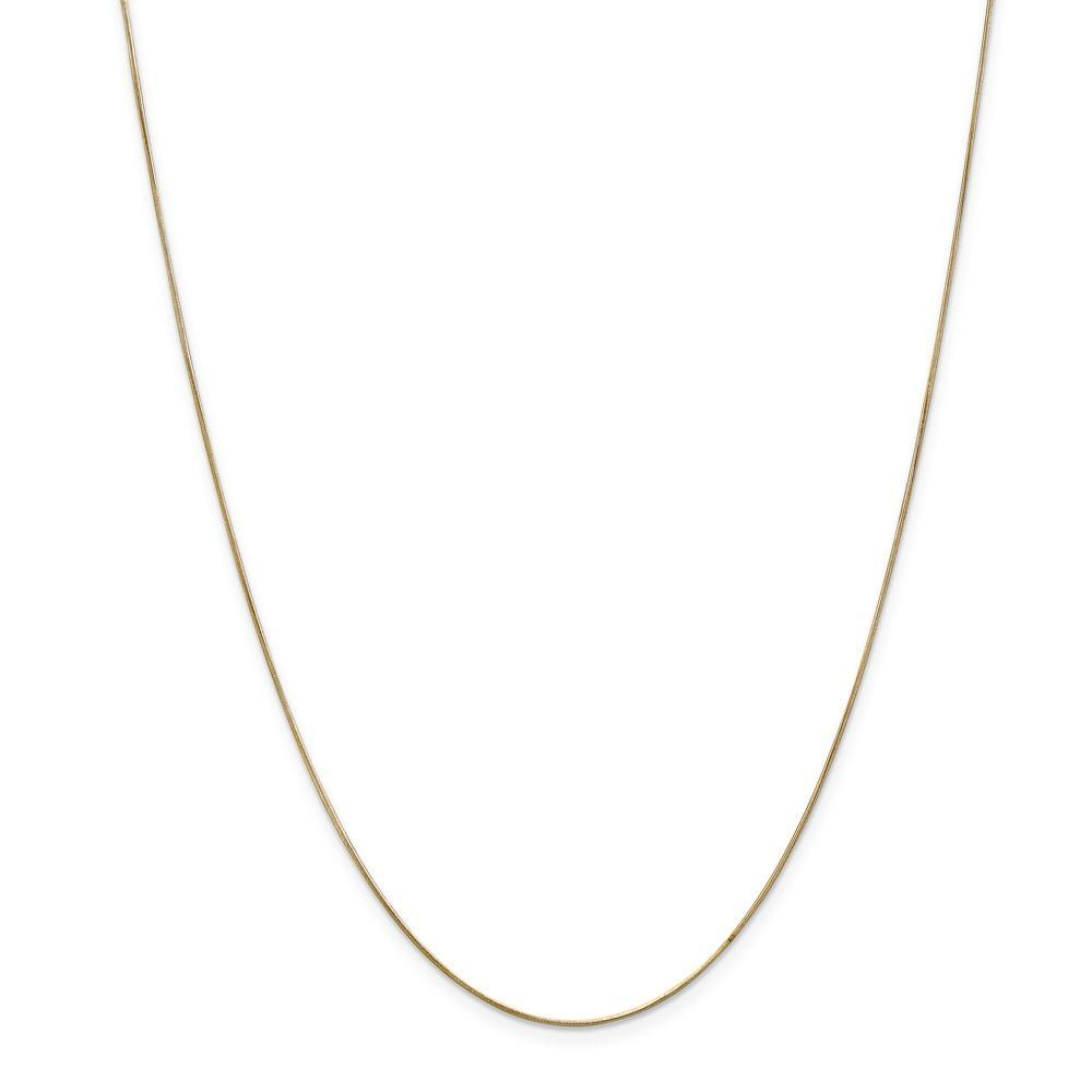 Chains 14k Yellow Gold 0.65mm Solid Round Snake Chain