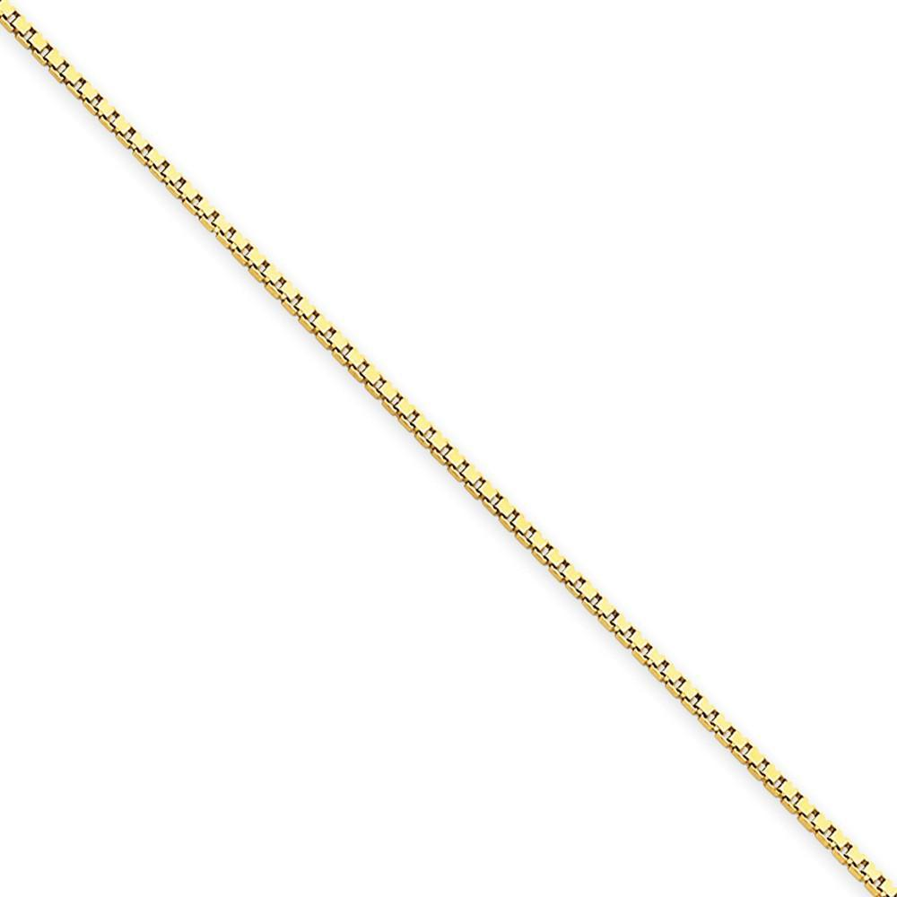 Bracelets 14k Yellow Gold 1.00mm Polish Solid Box Chain