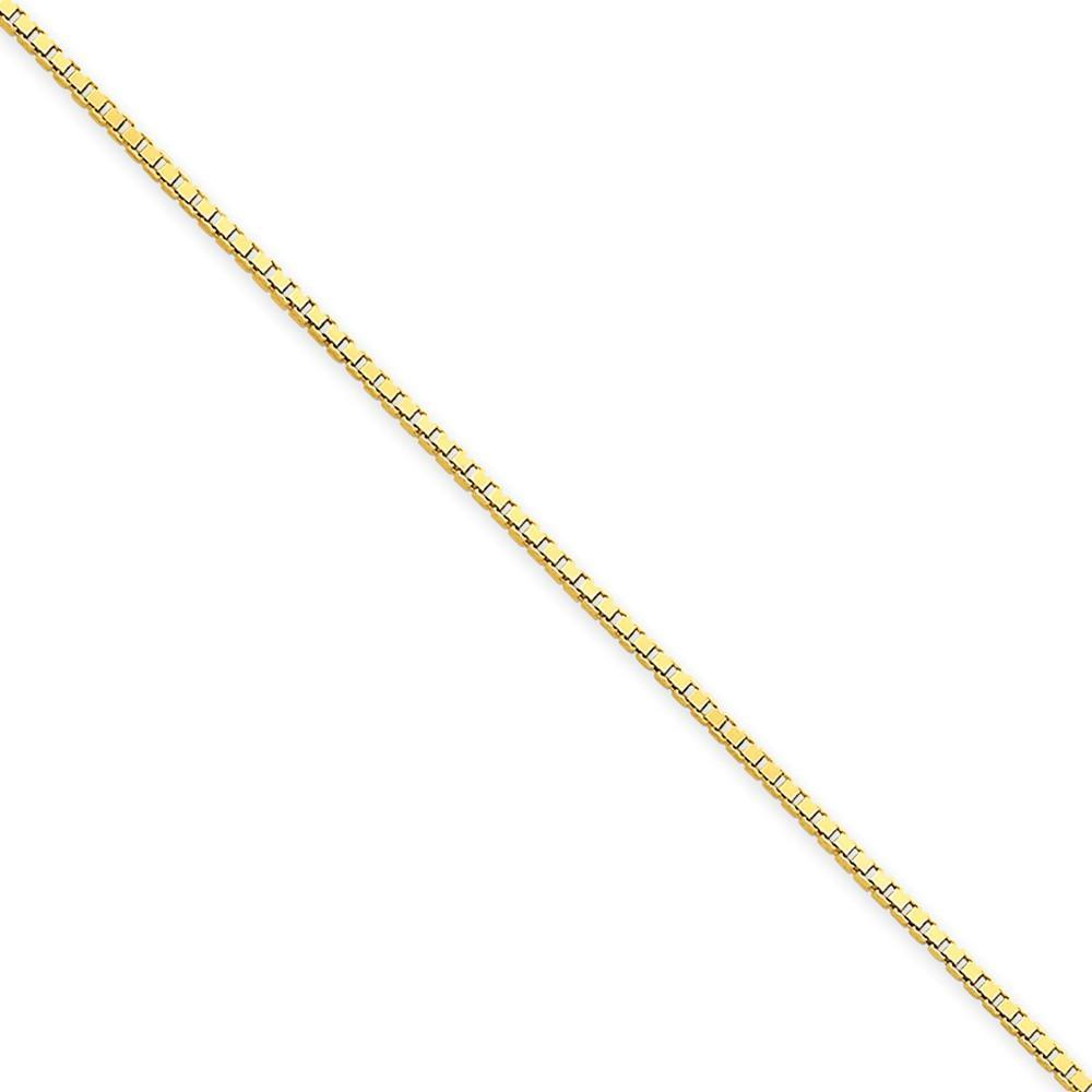 Bracelets 14k Yellow Gold 1.30mm Polish Solid Box Chain