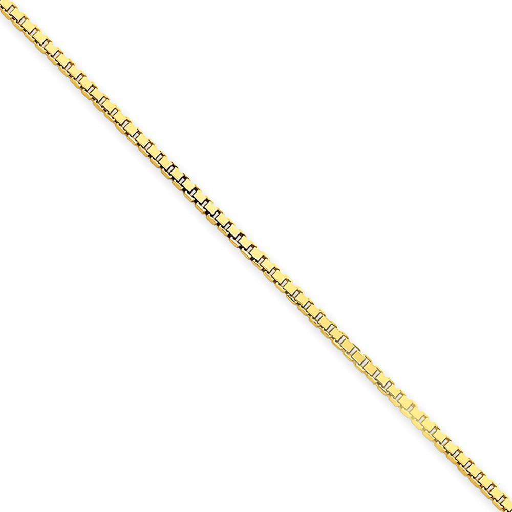 Bracelets 14k Yellow Gold 1.50mm Polish Solid Box Chain