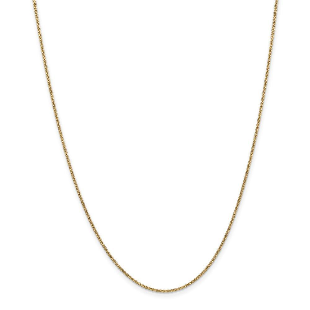 Anklets 14k Yellow Gold 1.50mm Solid Polish Cable Chain