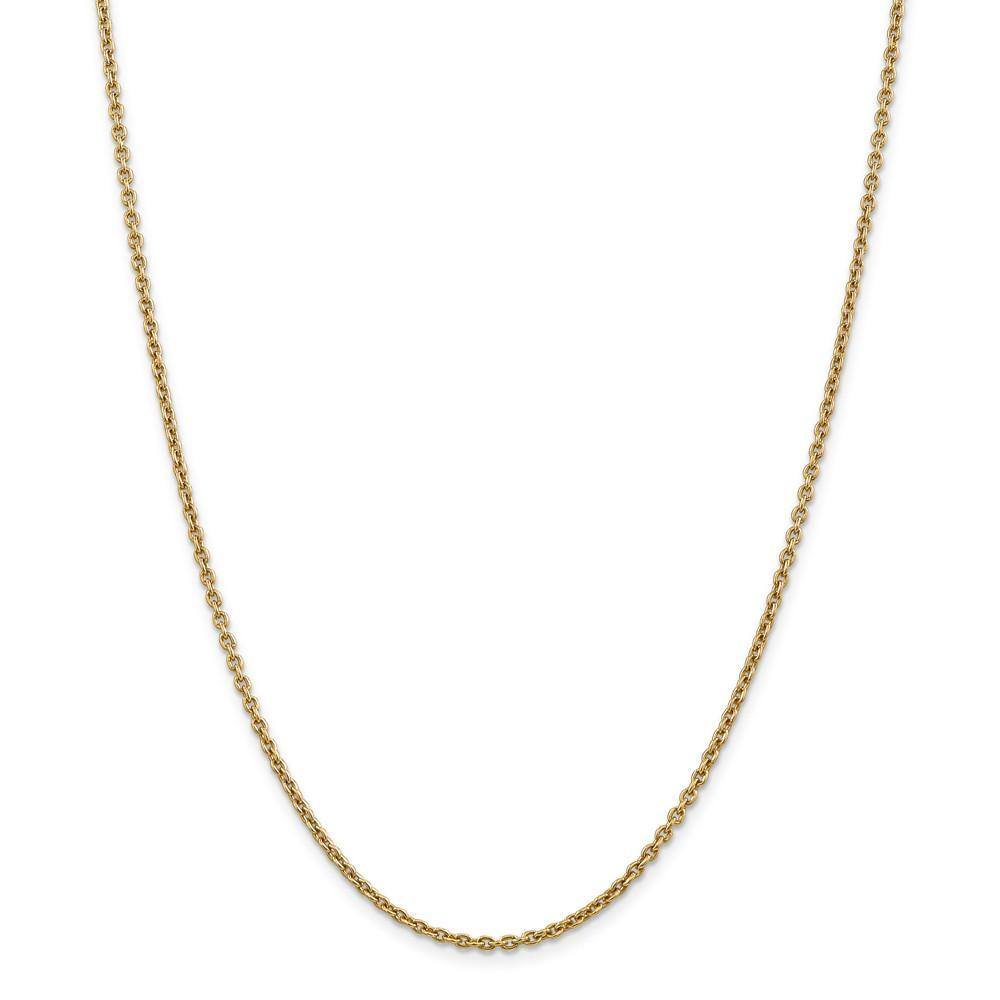Chains 14k Yellow Gold 2.20m Solid Polish Cable Chain