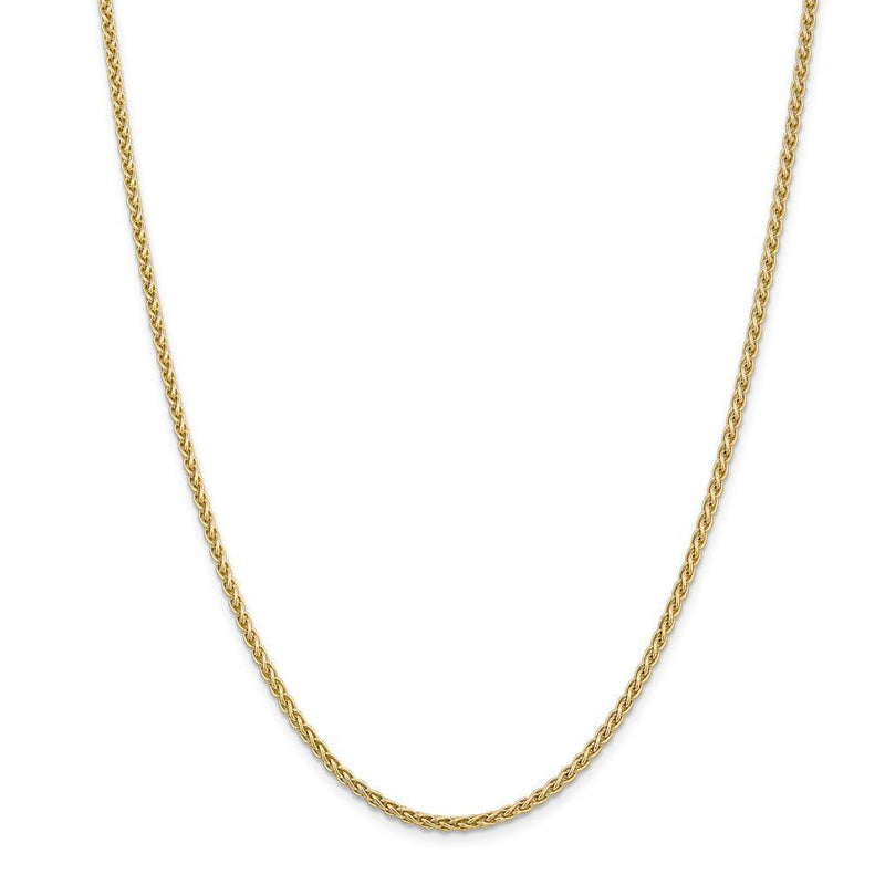 Chains 14k Yellow Gold 2.80mm Solid Polish Spiga Chain